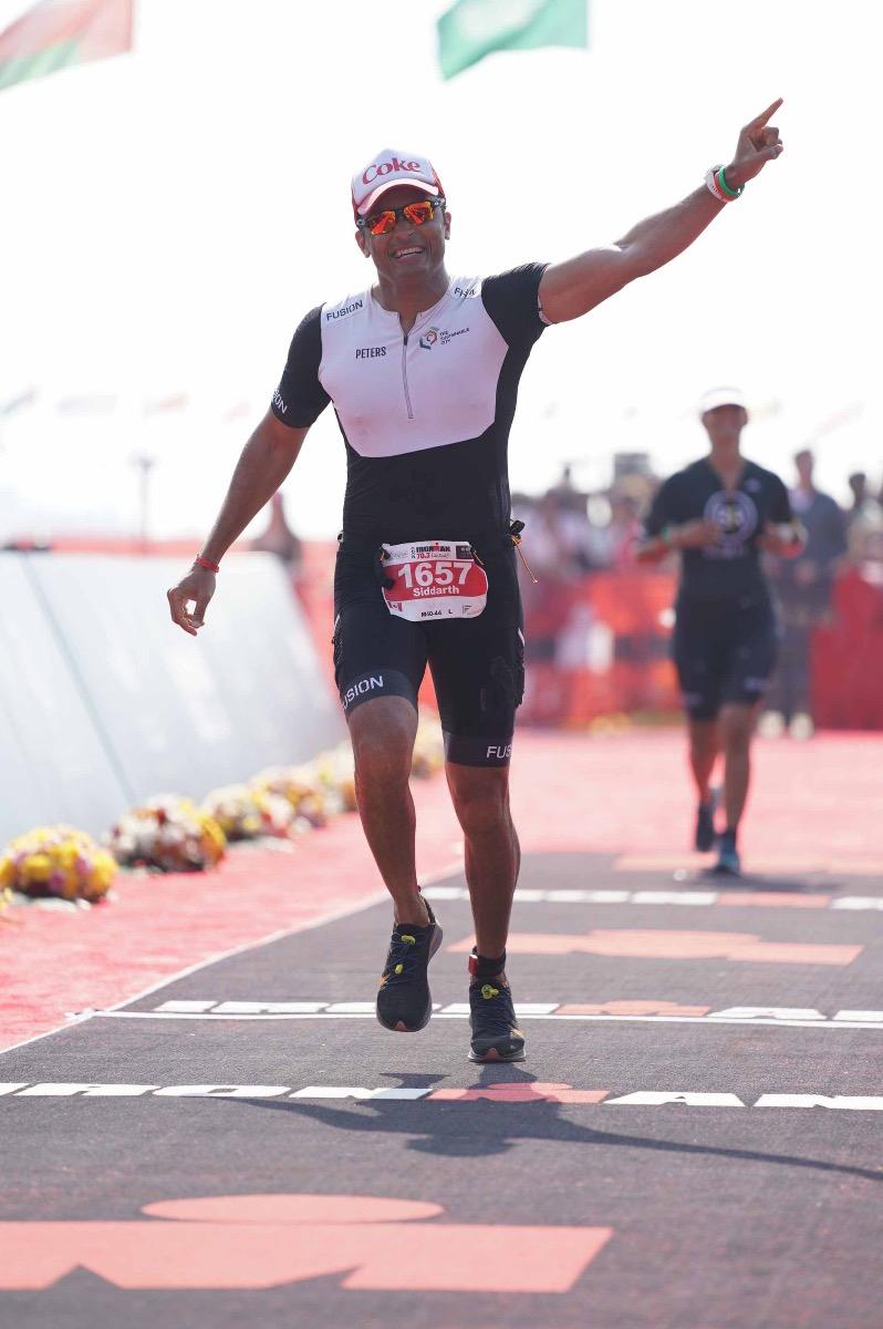 Siddharth Peters Ironman 70.3